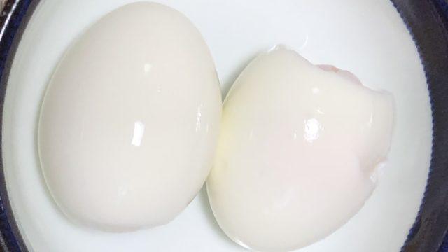半熟卵殻むき