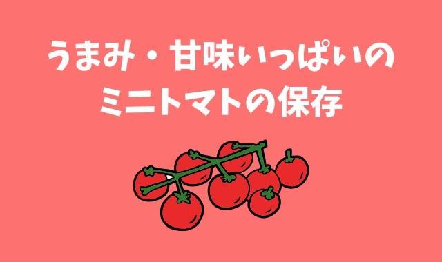 ミニトマト保存