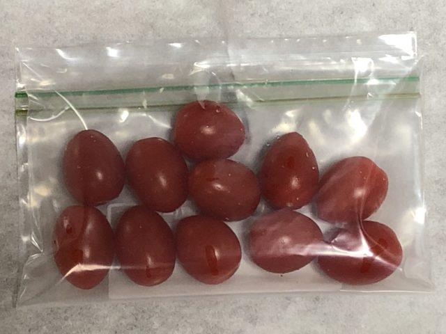 ミニトマト冷凍フリーザーバック