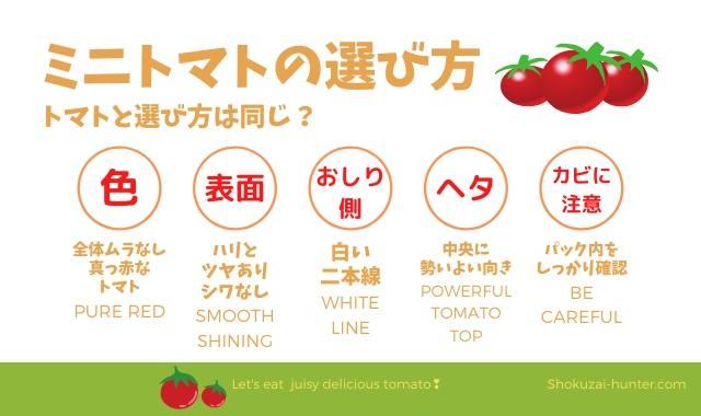 ミニトマトの選び方