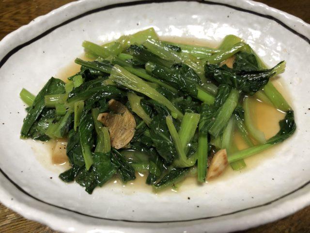 秋川牧園小松菜炒め物