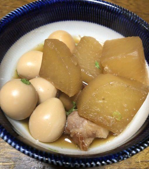 秋川牧園の大根とうずら卵の煮物