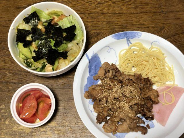 ヨシケイカットミール豚肉のごま炒め完成